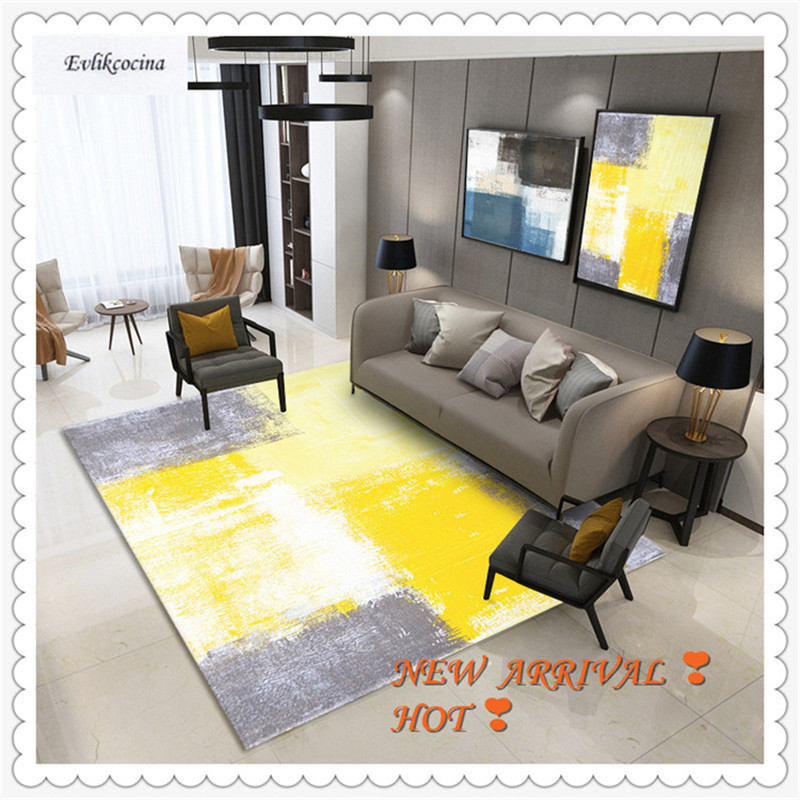 Livraison gratuite jaune gris couleur mélange tapis maison zone tapis de sol tapis Tapeti Casa moderne salon Tapete Para Sala Alfombra