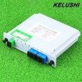 KELUSHI SC/UPC 1x4 Модуль PLC Волоконно-Оптический Сплиттер Разъем SC PLC Splitter Коробка оптического ветвления устройства