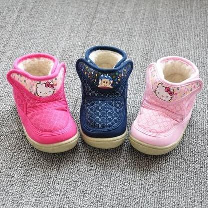 2016New Hello Kitty Niñas, Botas de Bebé de la Felpa Niños Botas Para Niños, Zapatos infantiles Para Niñas Chidlren, Invierno Para Los Niños, zapatos Chaussure Enfant