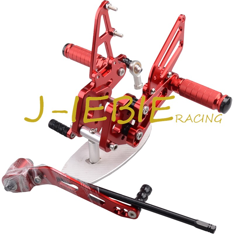 CNC Racing Rearset Adjustable Rear Sets Foot pegs For Suzuki GSXR 600 750 GSXR600 GSXR750 2006 2007 2008 2009 2010 K6 RED new motorcycle ram air intake tube duct for suzuki gsxr600 gsxr750 2006 2007 k6 abs plastic black