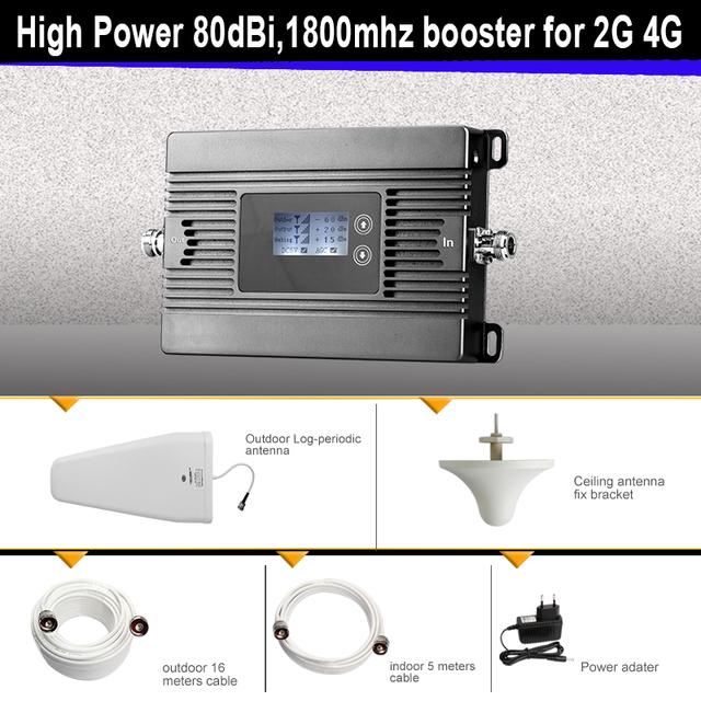 2G 4G amplificador de señal de Alta Potencia 80dBi DCS 1800 mhz mobile booster de señal 4g repetidor inteligente 2g 4g celular amplificador de señal