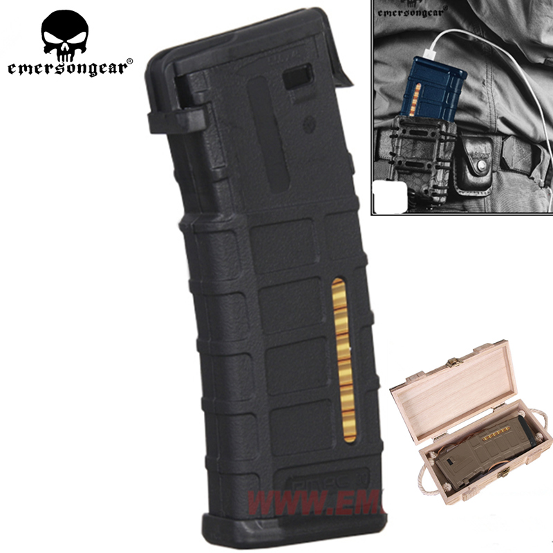 NEW Emersongear Magazine Style Powerbank  Case NO Battery Intelligent Portable Supplier Outdoor Hunting Hiking Emergency Gear