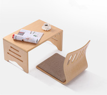 Modern Wood Folding Table Foldable Legs Rectangle 60*40cm Living Room Furniture Wooden Center Table Small Folding Coffee Table