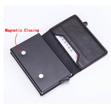 ZOVYVOL New PU Leather Coin Purses Magnetic Closing Card Holder RFID Blocking Wallet Smart Vintage Casual Money Bag