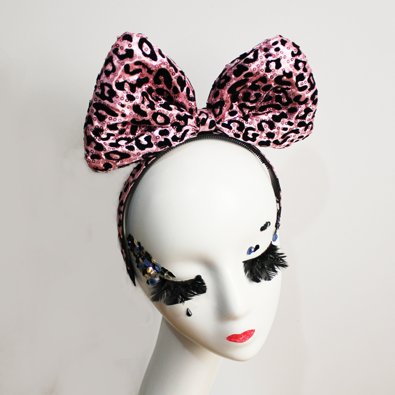 Home & Garden 1 Pc Party Headband Cute Big Bowknot Paillette Hair Clasp Headpiece Headware Hair Hoop Headdress For Women Girls Supplies Terrific Value
