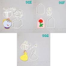 Potts Beautiful Girl  Rose Design Cookie Cutter Set Custom Made 3D Printed Fondant Cupcake