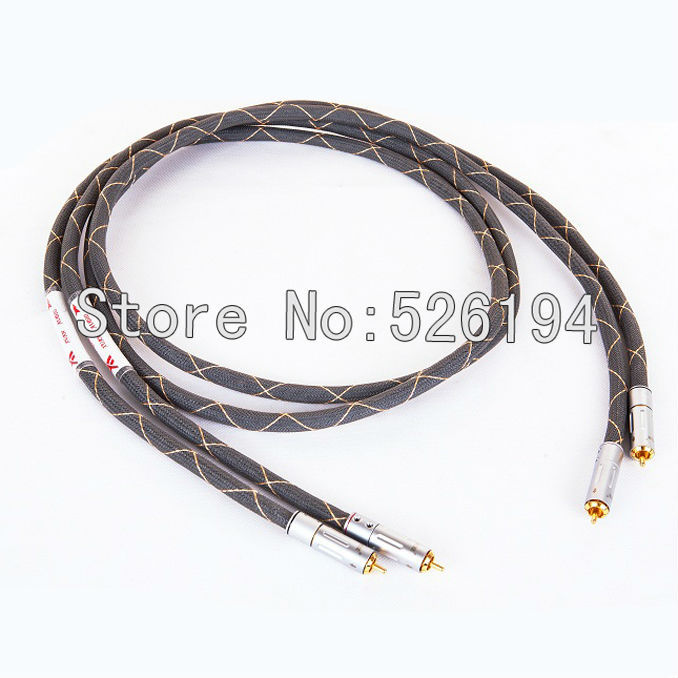 Free shipping Western Electric Shielded RCA Interconnect Cable signal lines with gold plated RCA plug free shipping siltech sq 88b g5 pure copper silver plated interconnect cable with pailiccs rca plug