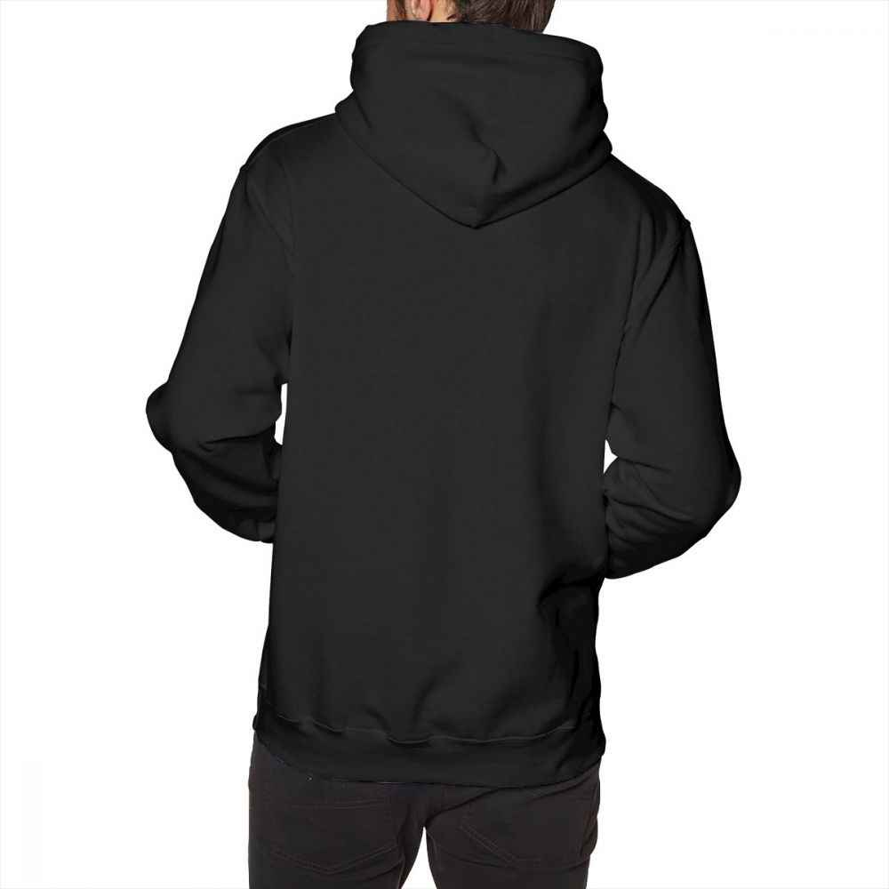 Sudadera con capucha para hombre de otoño con capucha de algodón negro