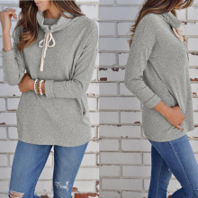 S-XL long sleeve hooded tops blouse autumn winter casual leisure  hoodies women streetwear
