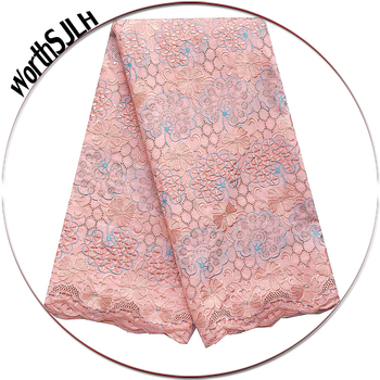 Peach Dry African Lace Fabric Swiss Voile Lace High Quality Nigeria Lace Royal Blue Cotton Swiss Fabric Bridal Lace Fabric