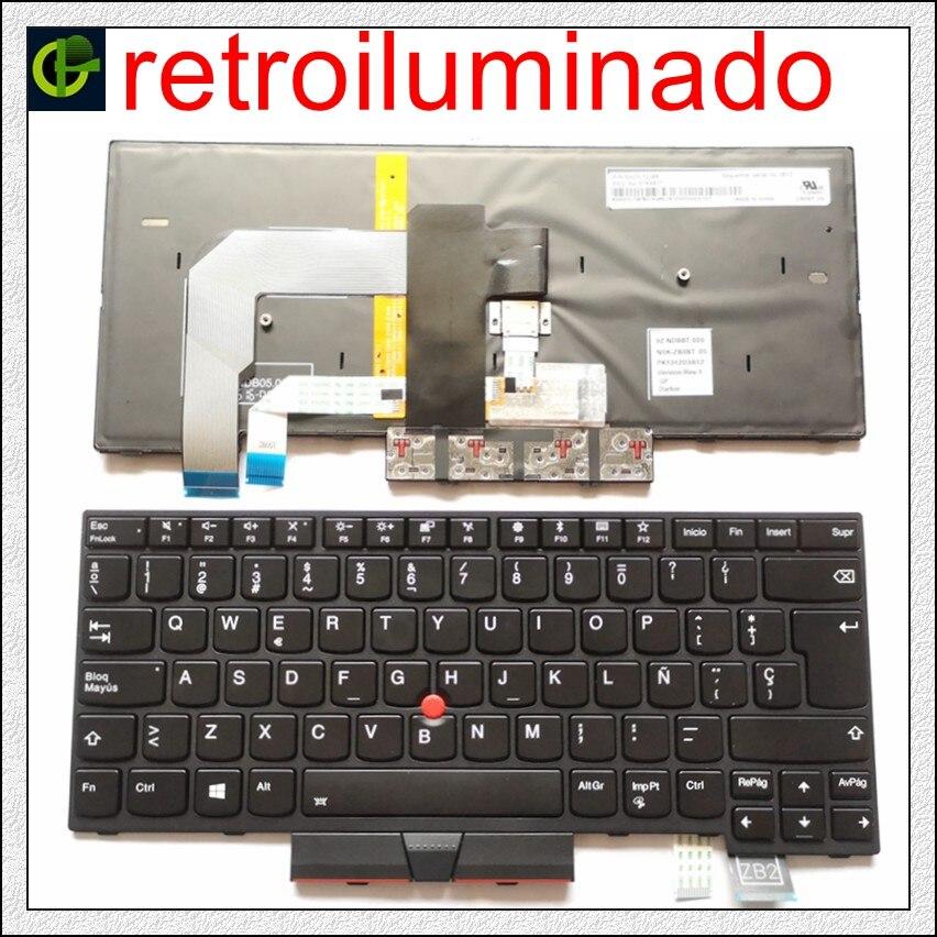 Spanish Backlit Keyboard For Lenovo ThinkPad A475 T470 FRU 01AX364 01AX405 01AX446 PN SN20L72726 PK1312D1A00 Latin SP LA
