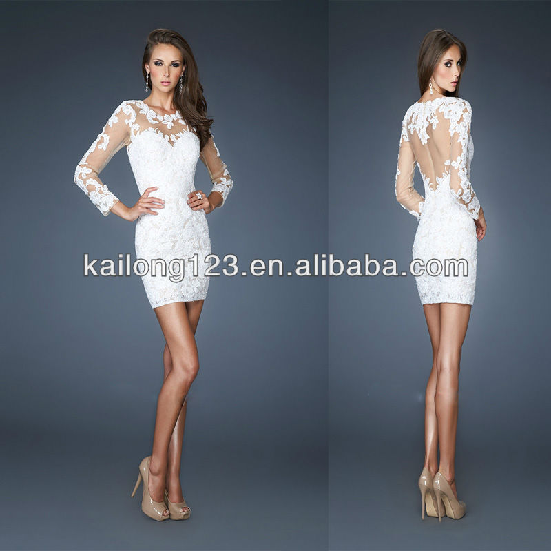 Short Fitted Lace Dress