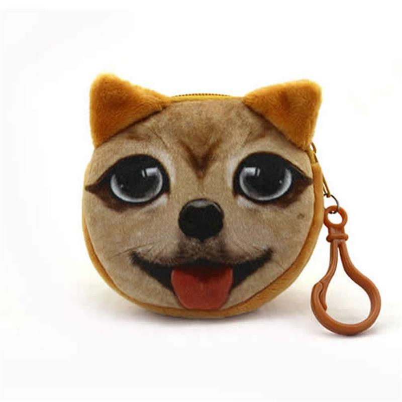 3367d133af8c Bageek Soft Cute Cartoon Cat Shape Coin Purse Creative Cute 3D Cat ...
