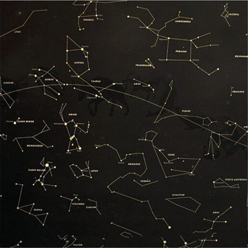 Pcs Funny Vintage Glow In The Dark Sky Luckies Star Map Poster - Dark sky map