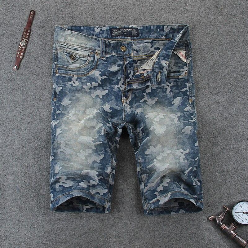 Summer Style Navy Camouflage Color Short Jeans Men Fashion Street Jeans Shorts Men High Quality Designer Denim Shorts Size 29-38 high quality 2016 summer men plus short jeans men s fashion shorts men big sale summer clothes brand homme short pants