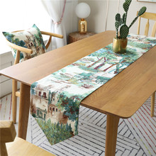 Fashion Modern Table Runner Colorful Polyester Jacquard Cloth kitchen Accessories Decoration Home chemin table