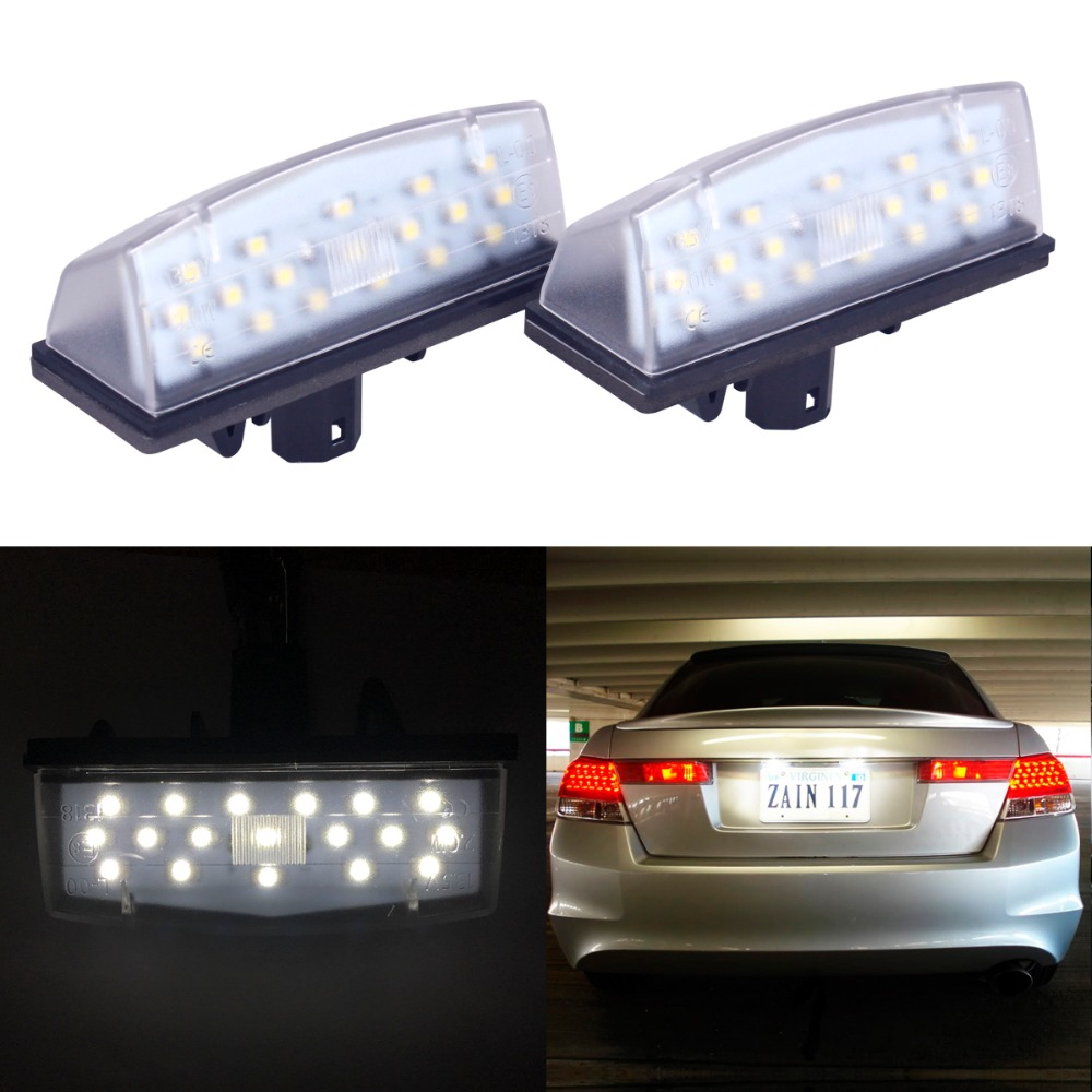 2PCS Car LED Car-styling No Error Xenon White 18SMD LED Number License Plate Light  For Toyota Prius Matrix Venza Lexus CT200h 18 smd high quality led smd number license plate light lamps for kia sportage 11 15 car styling vehicles white tail rear lamp