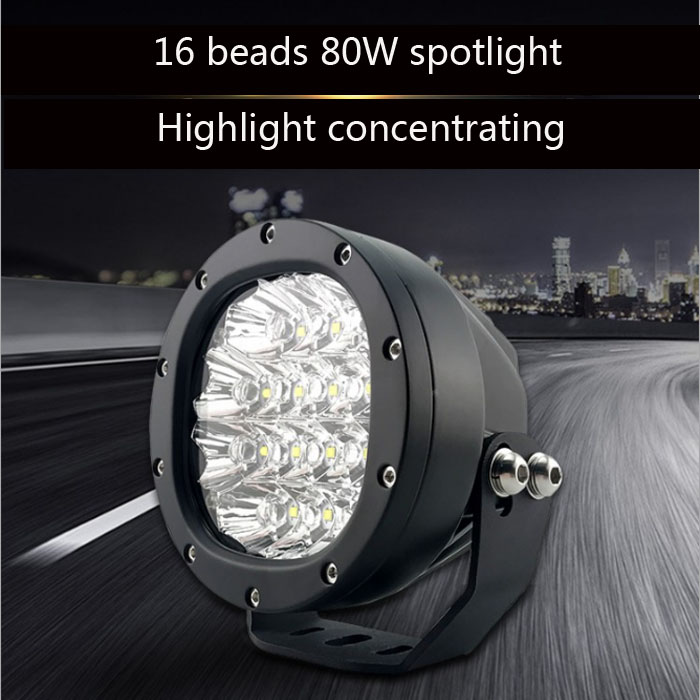 QIPO Motorcycle LED Spotlights Auxiliary Lights Modified External Headlights Off road Lights Front Lights Highlighted 12V Paving