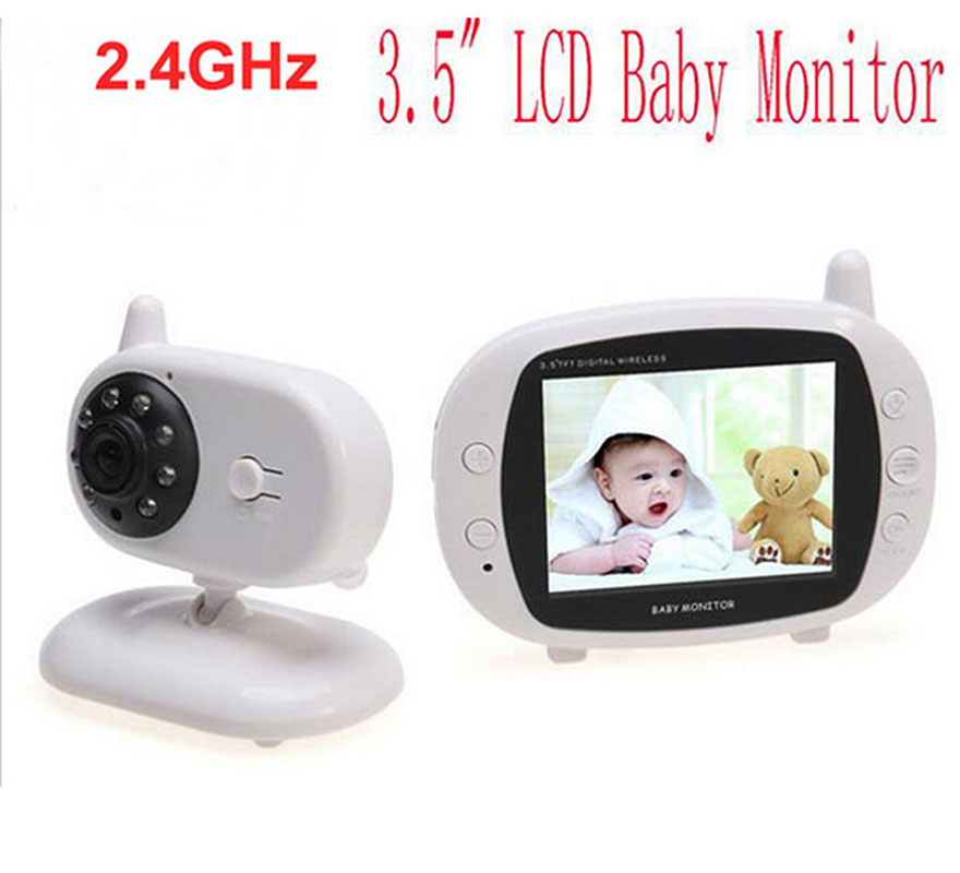 New 3.5 inch Color Video Wireless Baby Monitor 2 Way Talk IR LED Temperature Baby Camera Monitoring with 8 Lullabies Nigh Vision wireless video baby monitor 2 4 inch color security camera 2 way talk nightvision ir led temperature monitoring with 8 lullaby