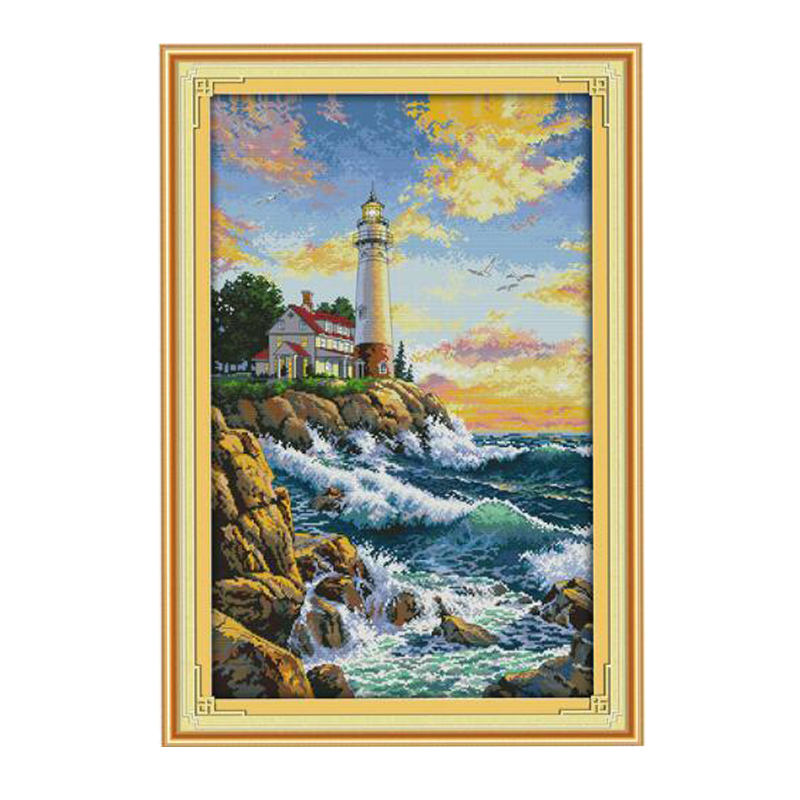 Volledige Vierkante / Ronde Diamant 5D DIY Diamond Painting Sea Lighthouse Diamond Geborduurd Diamond Mosaic Home Decor SSS002