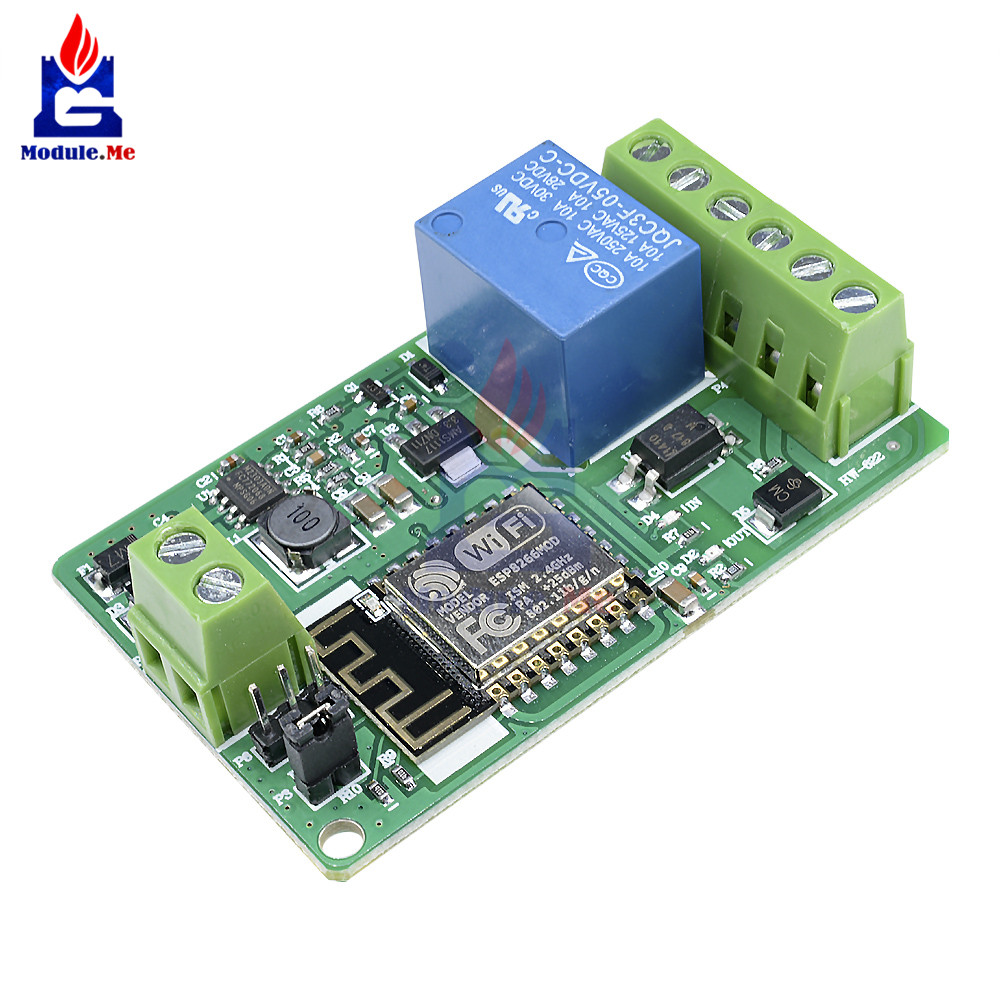ESP8266 ESP-12F WIFI Wireless Module 1 Channel Relay Shield Overcurrent Protection Wi-Fi Network Relay Module 10A <font><b>DC</b></font> 7-30V image