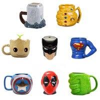 Marvel Кофе кружки Мстители Чай чашки и кружки Бэтмен Тор Супермен Железный человек Халк Человек-паук Капитан Америка Керамика Mark напиток