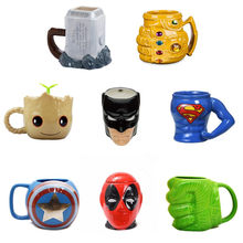 Marvel Coffee Mugs Avengers Tea Cups and Mugs Batman Thor Super Man Iron Man Hulk Spider Man Captain America Ceramic Mark Drink(China)
