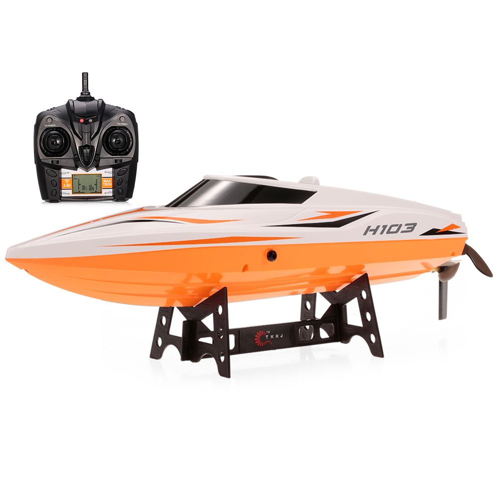 Goolrc H105 2.4G 2CH High Speed RC Racing Boat with Mode Switch Self Righting Remote Control Boat RC Ship Water Toys for kids RC