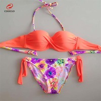 Nowy bikini stroje kąpielowe damskie kobiet 2017 push up bikini set beach swimsuit sexy dziewczyna podzielić stroje kąpielowe kobiety strój kąpielowy