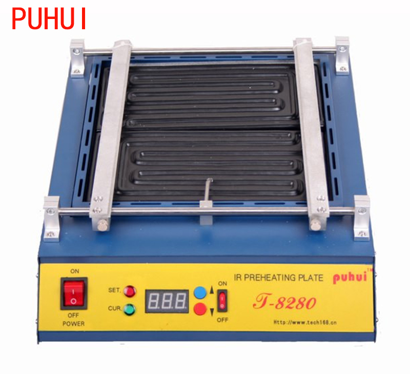 PUHUI T8280 220V 110V IR Preheating Oven T 8280 Preheat Plate Infrared Pre heating Rework Station