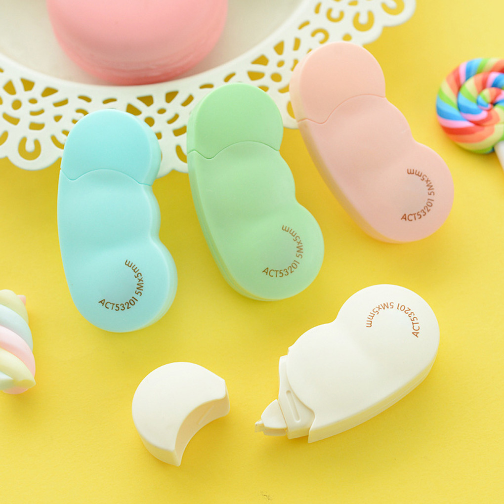 2019 HOT 5m Sugar Beans Correction Tape Student Writing Correcting Sticker Study Office Stationery Tool