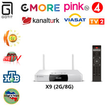 Zidoo x9 + kurdish russische türkei persische ex-yu iptv allwinner h3 quad core 2g/8g h.265/hevc 4 karat 2,4 ghz wifi bt4.0 android tv box(China (Mainland))