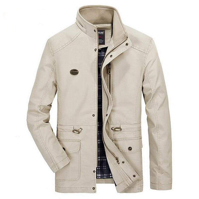 2018 New   trench   coat Autumn winter men's washed jacket in the long section large size   trench   coat men fashion casual jacket men