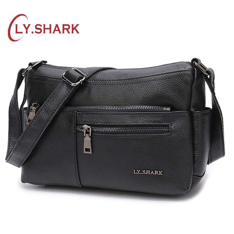 LY SHARK Ladies Genuine Leather Bag Women s Over the shoulder Bags Crossbody Bags For Women