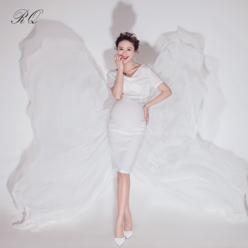 RQ Maternity Dresses Maternity Photography Props Dress for pregnant women Pregnancy Dress Maternity Photo Props clothes Q144