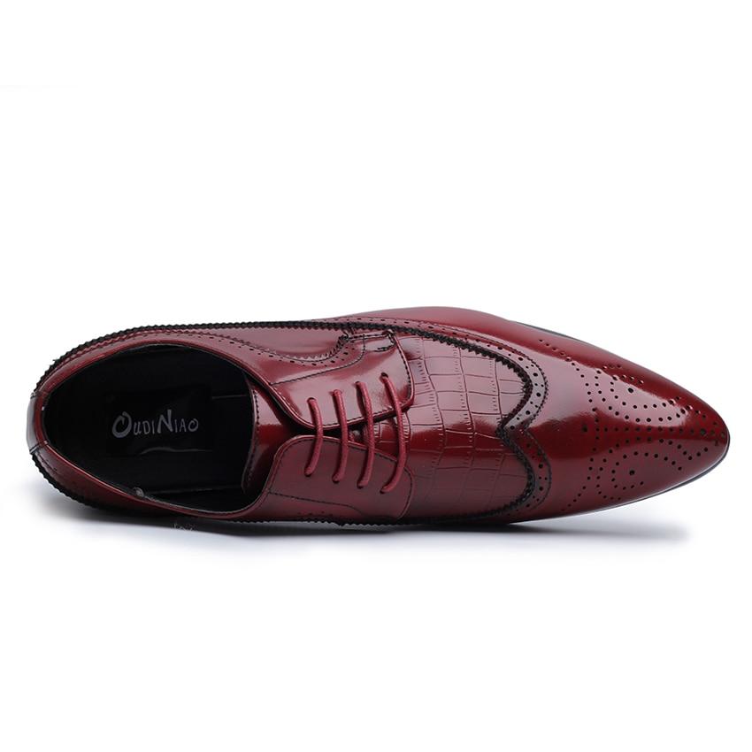 Elegant Leather Shoes Men Large Size 11 12 British Derby Shoes Business Man Pointed Toe Formal Dress Wedding Shoes Hight End Shoes