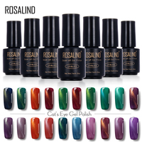 ROSALIND 3D Cat Eyes LED UV Soak-off Gel Lacquer Varnish UV Nail Gel Polish 7ML UV GEL For Nail Art