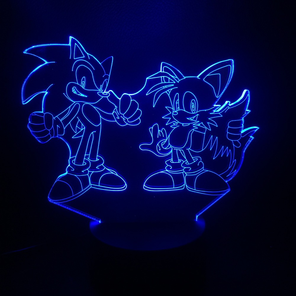 Game Sonic The Hedgehog 3D Lamp Bedside Home Decorative Lamp Kids Baby Gift 7 Color Changing Child LED Night Light Deco MaisonGame Sonic The Hedgehog 3D Lamp Bedside Home Decorative Lamp Kids Baby Gift 7 Color Changing Child LED Night Light Deco Maison