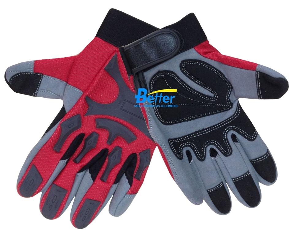 Firm Grip Mechanics Gloves Vibration Resistant Safety Glove Clutch Gear Anti Impact Mechanics Work Gloves