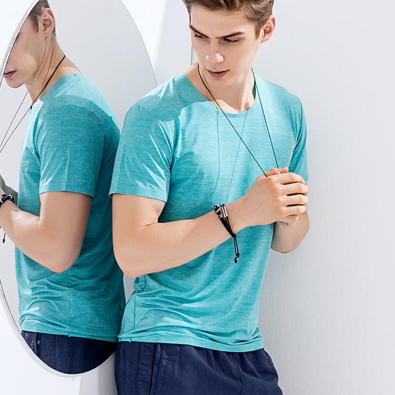 Ice soie sans couture séchage rapide hommes grands t-shirts 2017 été O cou t-shirt à manches courtes t-shirt respirant actif chemise pour homme CC05