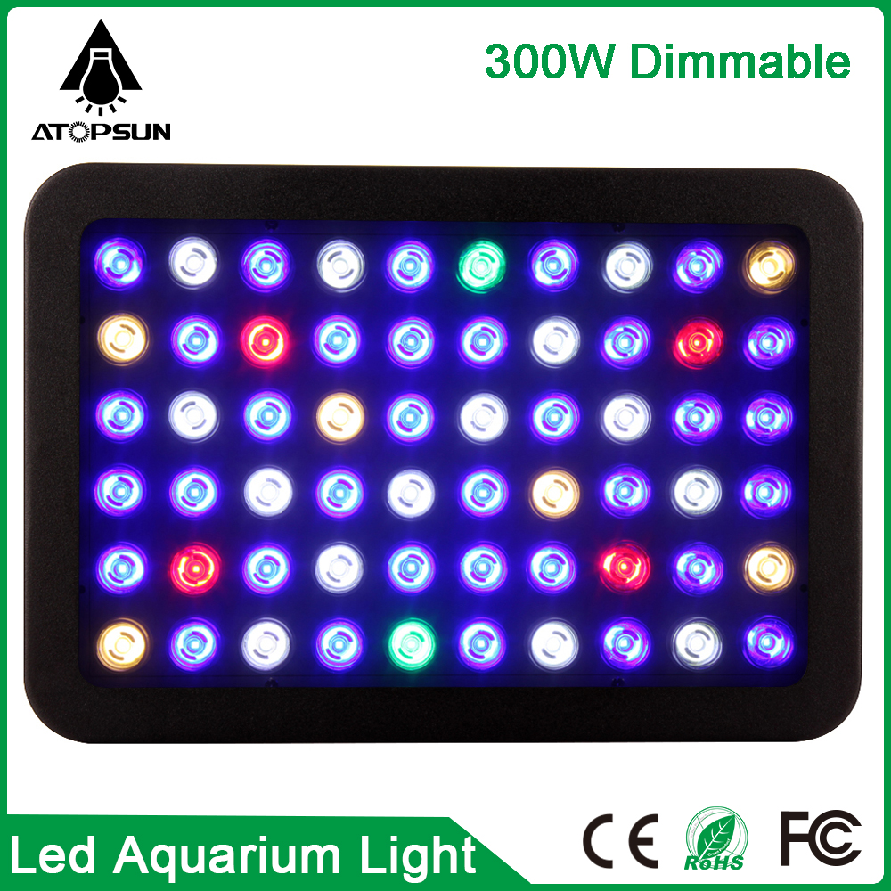 2pcs 165W 300W Aquarium Lighting Dimmable Led Aquarium Led lighting  Lamp Full Spectrum Led Grow Light for Fish Tank Coral Reef