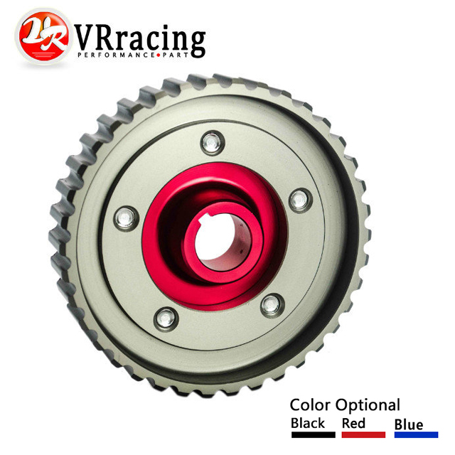 Color : Red Automotech 1 Pcs Adjustable Cam Gears Pulley Alloy Timing Gear Fits For H-o-n-d-a SOHC D15//D16 D-SERIES Engine