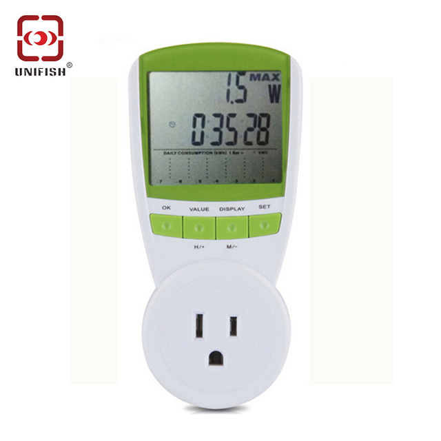 TS 838 US PLUGPower Energy Meter Watt Voltage Current Frequency ...