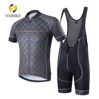 SaiBike Men MTB Bike Cycling Jersey And BiB Shorts Set Ropa Ciclismo Maillot Ciclismo Clothing QUick