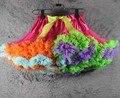 2017 hot sale baby girl tutu skirt tutu pettiskirt  Rainbow Skirts girls fluffy pettiskirts