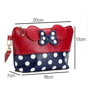 Travel Cosmetic Bag Cartoon Bow Makeup Case Women Zipper Hand Holding Make Up Handbag Organizer Storage Pouch Toiletry Wash Box 2