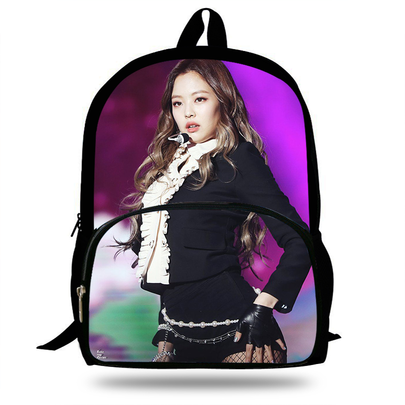 Luggage & Bags Lower Price with Kpop Black Pink Jisoo/jennie/rose Backpack Girl Schoolbag For Teenage Women Backpack Nylon School Backpack Famale Teen Bagpack Selling Well All Over The World School Bags