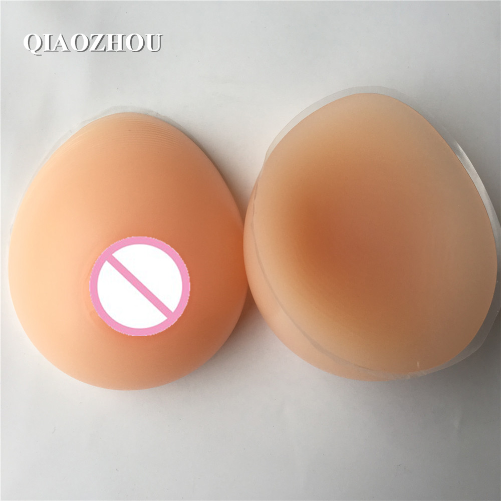 600g/pair B cup realistic silicon breast form for shemale crossdresser nude skin tone fake boobs free shipping sex products b cup silicone fake breast artifcial boobs pad teardrop shape for shemale crossdresser 600g pair