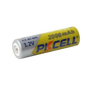 Image 2 - 8 Pçs/lote 2A Baterias PKCELL AA NI MH 2000mAh 1.2V Bateria Recarregável AA Bateria Baterias AA NIMH pilhas para lanterna