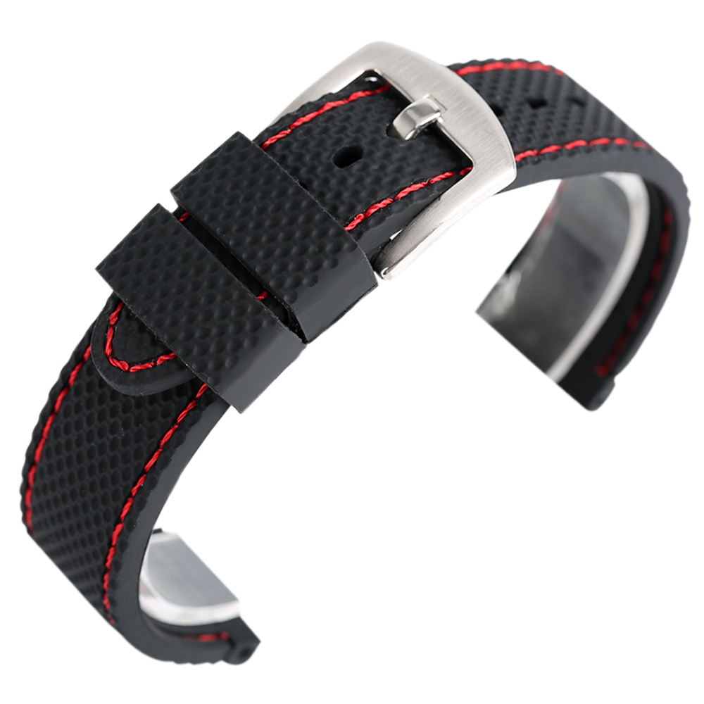 High Quality Snitch Silicone Watch Band Men Women Watrproof Soft Watch Strap Steel Pin Buckle Outdoor Watchbands + 2 Spring Bars eache silicone watch band strap replacement watch band can fit for swatch 17mm 19mm men women